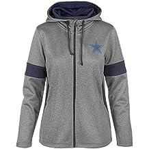 Dallas Cowboys Women s Size Medium 2 Tone Full Zip Jacket - Navy Blue 0186edaf3