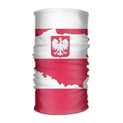 Amazon.com: Poland Map Flag Headwear Bandanas Headscarf Helmet Liner ...