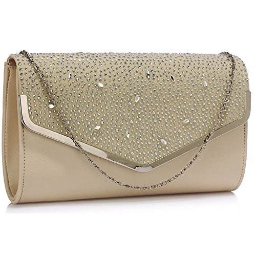 Size Nude Bag pink Cwe00264 Diamante Purse Flap Gorgeous Fashion Cwe00300 Celebrity Designer Leather Faux Cwe00264a Women's Ladies Small Clutch Evening Quality Hw6dH