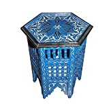 Moroccan Octagonal Moucharabieh Handpainted Table Arabic Design Furniture