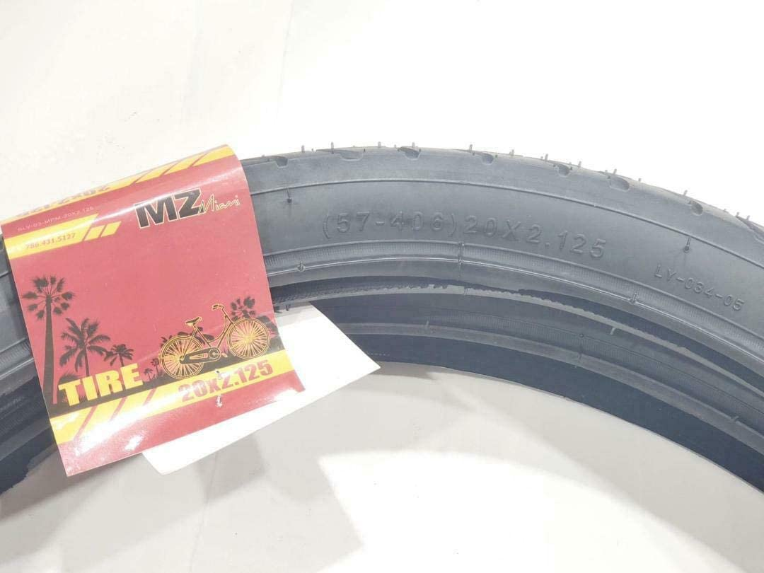 MZ PARTS MIAMI 20x2.125 Tires Bicycle 57-406 Two BMX Street Bicycle Tires