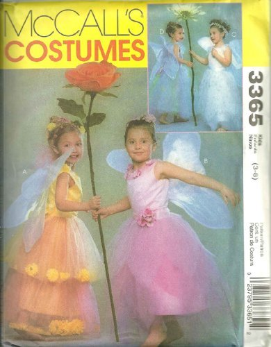 Pattern Costume Fairy (Childrens And Girls Flower Fairy Costumes McCall's Sewing Pattern 3365 (Size)