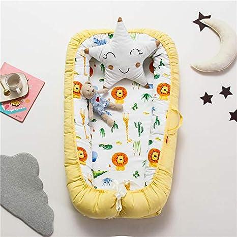 T-MIX Babynest Babybett Nestchen f/ür Neugeborene 100/% Baumwolle Kuschelnest Weiches und sicheres Baby-Reisebett