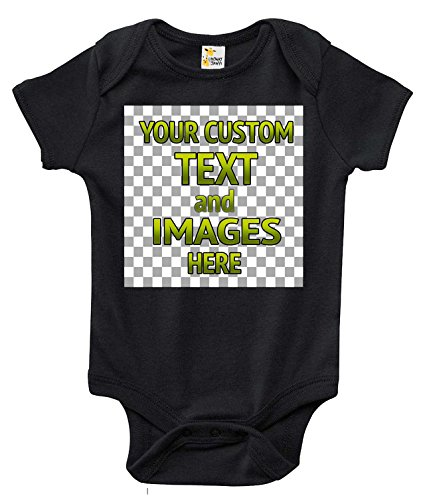 (Laughing Giraffe Customized One-Piece Baby Bodysuit Romper for Boys and Girls (0-3 Months,)