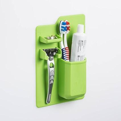 YOYOUG Caja de Almacenamiento para cepillos de Dientes, de Silicona, Estante Organizador para Almacenamiento