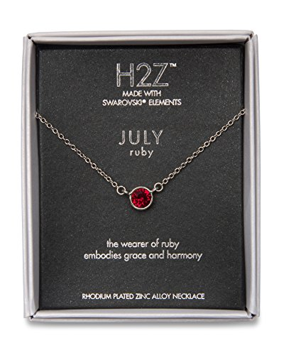 - Pavilion Gift Company H2Z 16222 July Ruby Birthstone Necklace with 18