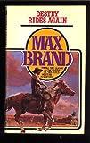 Destry Rides Again, Max Brand, 0671735438