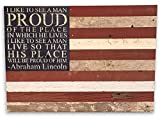 Second Nature By Hand 28×20 American Flag Reclaimed Wood Sign, Medium Review
