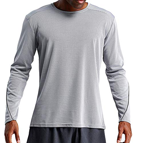 DaySeventh Men's Sports Quick Dry Long Sleeved Casual Breathable Leisure Sports Blouse Tops -