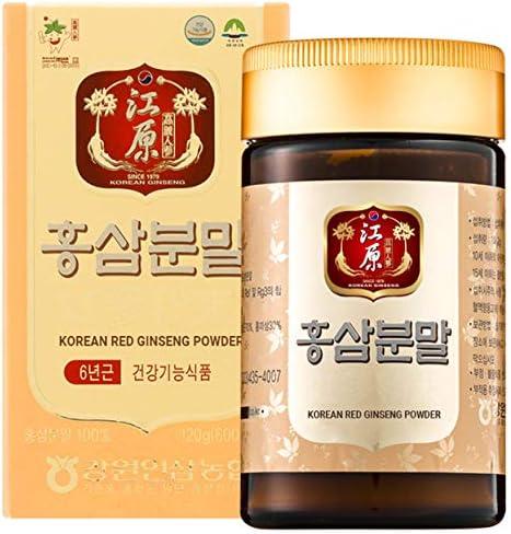 Gangwoninsam Korean Red Ginseng Powder Contains 100 6 Year Korean Red Ginseng Powder, Healthy Korean Food, 120g 4.23 fl. oz 120g