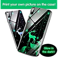 ShowMe [Glow in the dark!!!] Customized Tempered Glass Cellphone Case (iPhone 6/+, 7/+, 8/+, X, Xs, Xr, XsMax & Samsung s7/+, s8/+, s9/+, note9) [Create Your Own DIY Collage Text Logo Photos Tempered glass case]