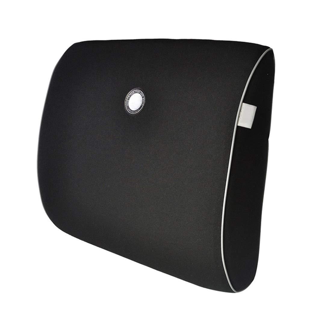 HUIFEI Car Waist Cushion 3D Memory Cotton Breathable Easy to Clean Pregnant Women Lumbar Cushion High-end car seat Cushion (Color : Black)