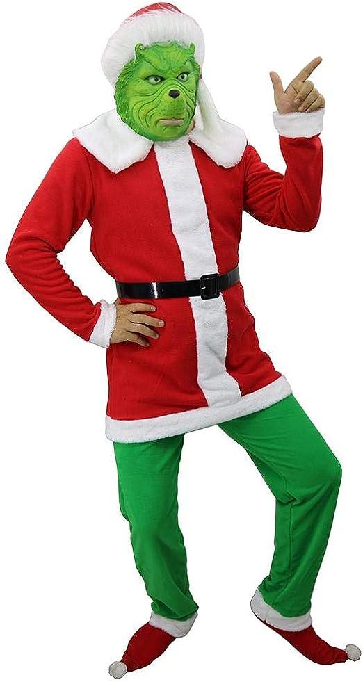 Máscara De Monstruo Verde Grinch, Divertido Navidad Cosplay ...