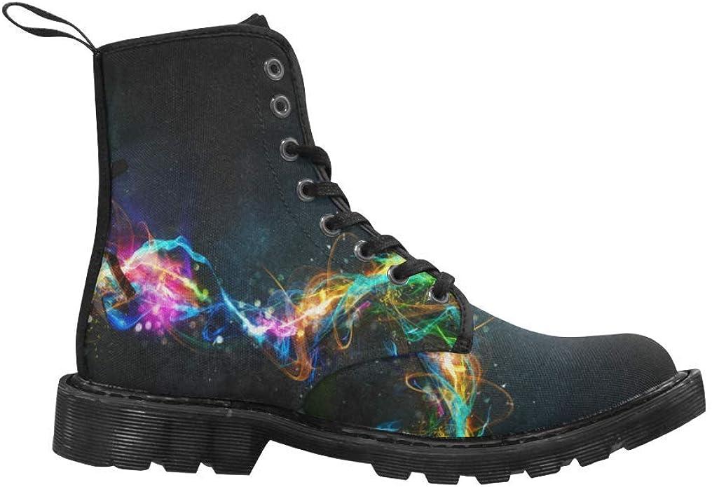 Unique Martin Mens Boots Lace Up Canvas Combat