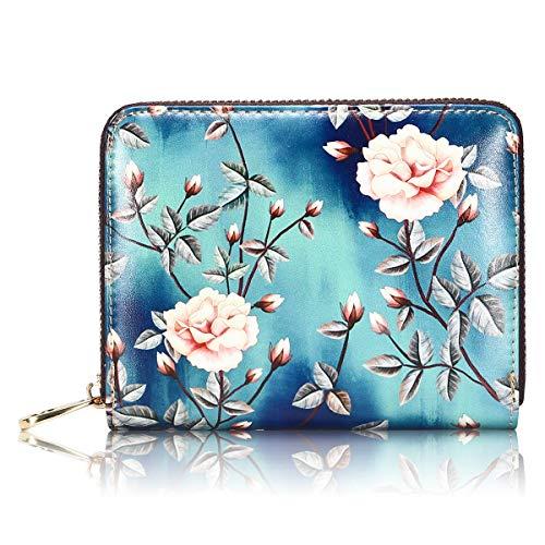 APHISON Credit Card Holder Zip Around Large Capacity Travel Wallet for Women Ladies Girls/Gift Box 185 (185-0030)