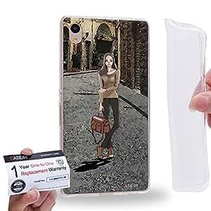 Case88 [Sony Xperia Z3+ / Z4] Gel TPU Carcasa/Funda & Tarjeta de garantía - Art Teen Personalities Sassy Girl A 2177