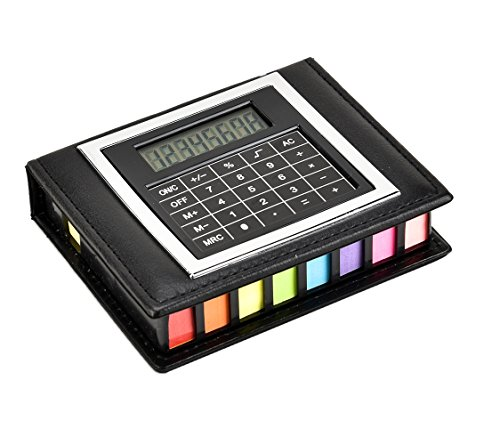 Sticky Memo Notes Pad Tab Markers & Index Tabs Flags Desk Organiser Set With Calculator (Sticky Box Set)
