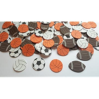 Nikki's Knick Knacks 120 Foam Sport Stickers- Soccer, Volleyball, Basketball, and Football: Toys & Games