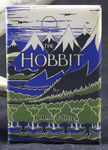 The Hobbit Book Cover - Refrigerator Magnet. Tolkien