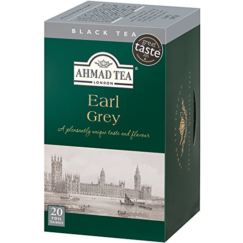 Ahmad Tea Earl Grey Tea, 20-Count Boxes (Pack of 6)