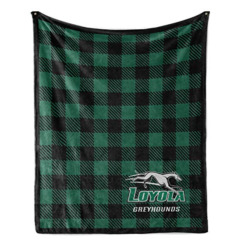 Official NCAA Loyola Greyhounds - Light Weight Fleece Blanket - -