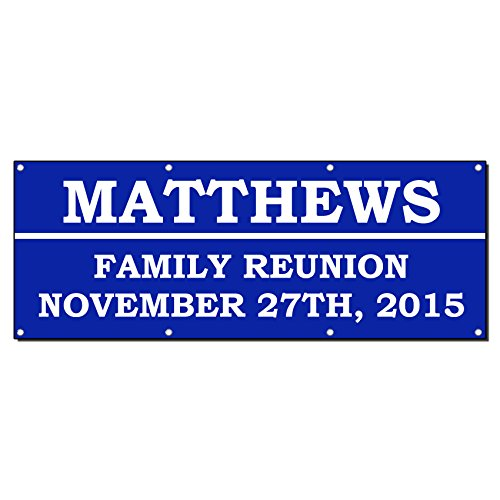 Family Reunion Welcome Custom Personalized Banner Sign 2' X 4' W/ 4 Grommets]()