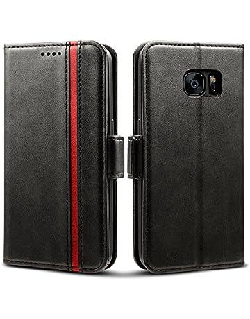 f90944314475 Rssviss Coque Samsung Galaxy S7 Housse en Cuir pour Samsung S7 Portefeuille  à Rabat  4