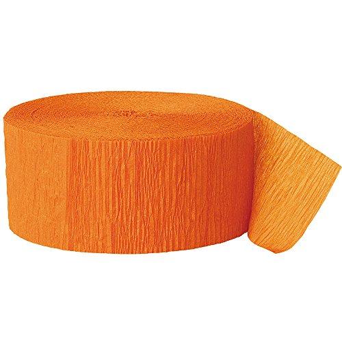 81ft Orange Crepe Paper -