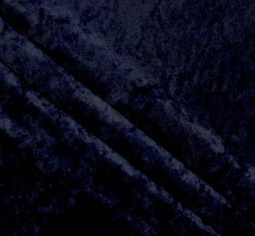 Crushed Panne Velour Dark Navy (Fabric Velour Stretch)