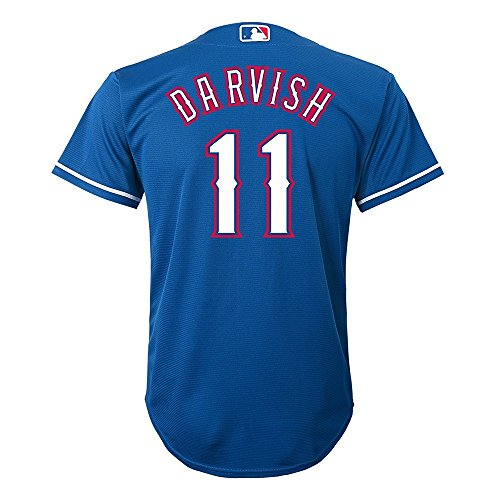Outerstuff Yu Darvish MLB Majestic Texas Rangers Blue Cool Base Jersey Boys 4-7