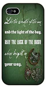 iPhone 5 / 5s ...and the light of the day, may the luck of the Irish shine bright on your way - black plastic case / Life quotes, inspirational and motivational / Surelock Authentic