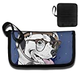 Gili Cute Astronaut Glasses Dog Travel Wallet Travel Passport & Document Organizer Zipper