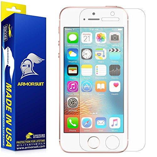 ArmorSuit MilitaryShield - Apple iPhone SE Matte Screen Protector - Anti-Glare/Anti-Fingerprint & Anti-Bubble Shield + Lifetime Replacement