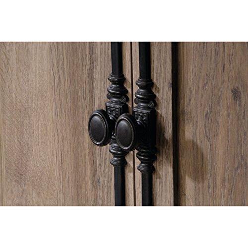 sauder barrister lane armoire salt oak. Black Bedroom Furniture Sets. Home Design Ideas