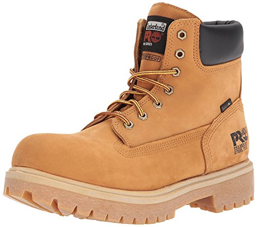 Timberland PRO Direct Attach 6 Steel Safety Toe Waterproof Insulated Boot, Wheat, 43.5 D(M) EU/9 D(M) UK