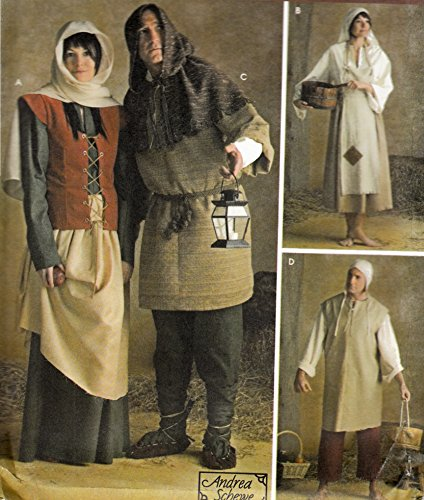 Renaissance Coutume Peasant Men's Misses Teens 3806 Simplicity Sewing Pattern All Sizes XS-XL]()