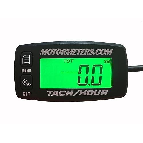 outboard tachometer amazon com motormeters® digital back light hour meter tachometer water proof