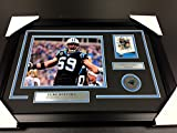 LUKE KUECHLY CAROLINA PANTHERS AUTOGRAPHED CARD WITH 8X10 Photo Framed