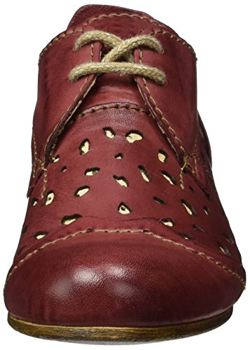 cordones Rojo de derby bordeaux Rovers Rot Mujer Zapatos bordeaux Rovers qwYPtn