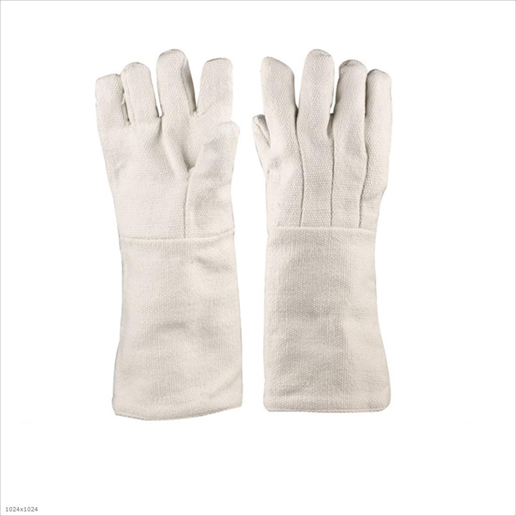 TUNBG High Temperature Resistant Gloves Industrial Oven 1000°C Anti-Burn Lengthened 42CM Gloves,1Pair