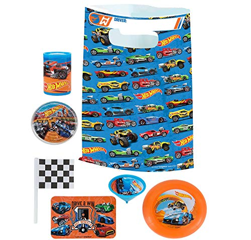Party City Hot Wheels Basic Favor Supplies for 8 Guests, Include Plastic Favor Bags and a Complete Party Favor Pack]()