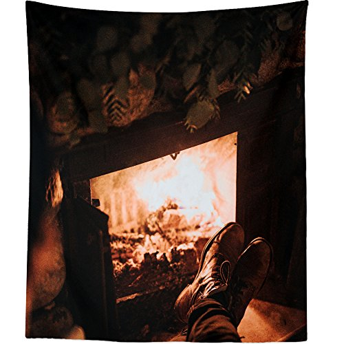 Westlake Art - Lorem Fireplace - Wall Hanging Tapestry - Picture Photography Artwork Home Decor Living Room - 68x80 Inch (601F-9EDB6) by Westlake Art