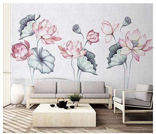 3D Wallpaper Decorations Wall Stickers Murals Elegant Lotus Pond Landscape Art Kids Room (W)200X(H)140Cm from VVNASD