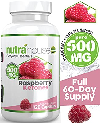 NutraHouse Raspberry Ketones 500 mg 120 Veggie Capsules 60 Day Serving