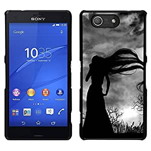 For Sony Xperia Z4v / Sony Xperia Z4 / E6508 , S-type® Long Hair Witch Bare Trees Spooky - Arte & diseño plástico duro Fundas Cover Cubre Hard Case Cover