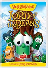 VeggieTales: Lord of the Beans follows the fantastic journey of a Flobbit named Toto Baggypants (Junior Asparagus) who inherits a most unusual and powerful bean. With the help of his mentor Randalf and a spirited group of friends, Toto embark...
