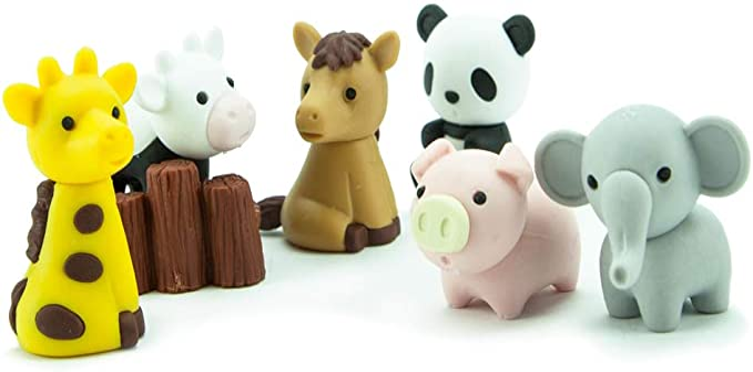 Iwako Japanese Animal Puzzle Eraser Rubber Parka Hoody Teddy Bear