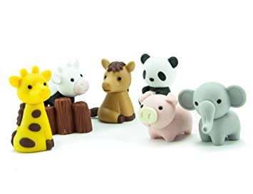 Japanese Toy Companies : Amazon iwako japanese puzzle take apart erasers zoo animals