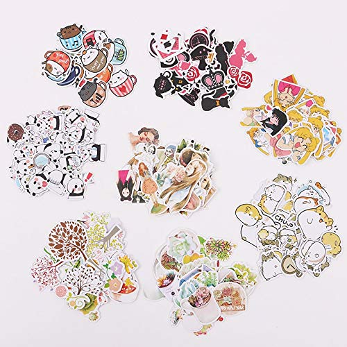 ONION STICKER 1 Set Cute Cartoon Korean Style Decorative Stickers Adhesive Stickers Scrapbooking DIY Decoration Diary Stickers (Pretty Girl)