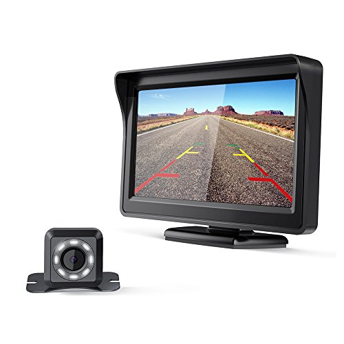 "CISNO Quick Installation Car Backup Camera With 4.3"" LCD Mon"
